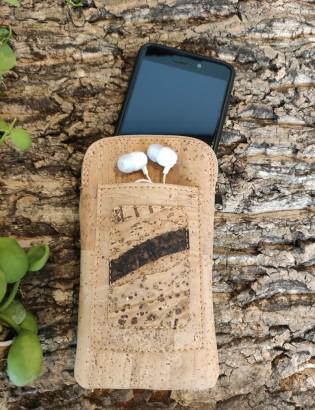 Etui téléphone effet bois