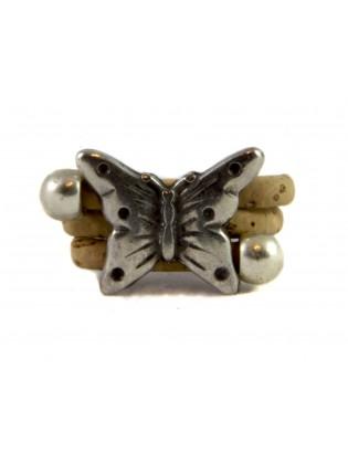 Bague papillon naturel