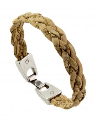 Bracelet tressé naturel plat