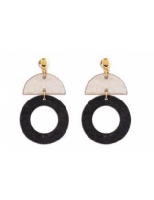 Boucles d'oreilles geometric noir