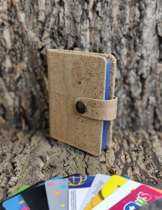 Porte carte fidélité naturel
