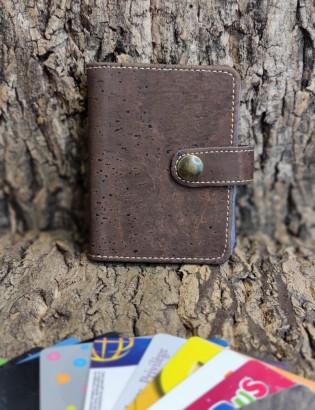 Porte carte fidélité brun
