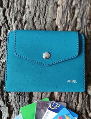 Porte  carte Onor turquoise