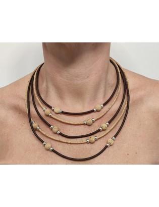 Collier perles de liège