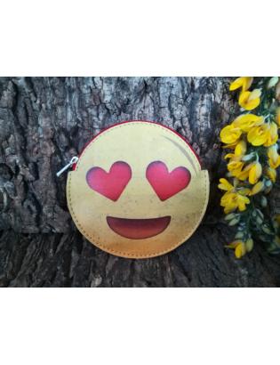 Porte monnaie Smiley Amour