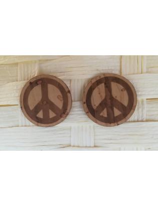 Boucles d'oreilles Peace & Love
