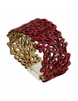 Bracelet fond marin rouge