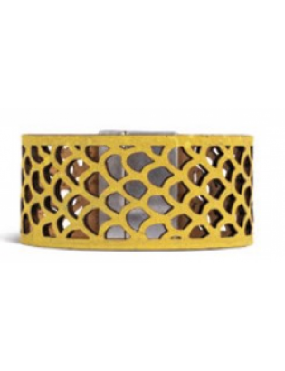 Bracelet écaille jaune