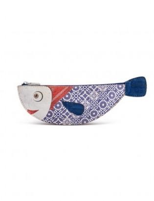 Porte-clés bacalhau azul