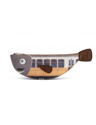 Porte-clés bacalhau castanho