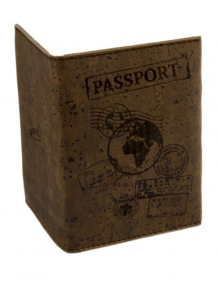Etui passeport brun
