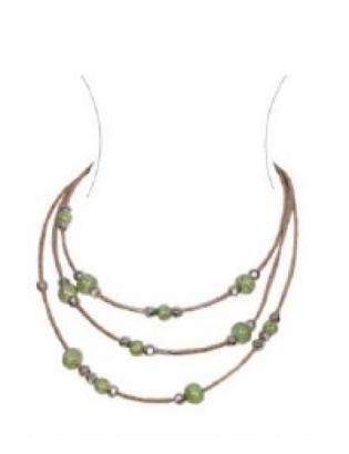 Sautoir perles vert d'eau