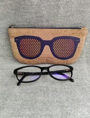 Etui à lunettes oculos violet