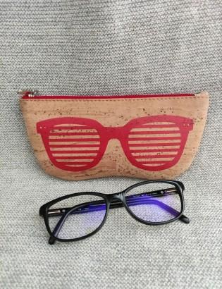 Etui à lunettes oculos rouge