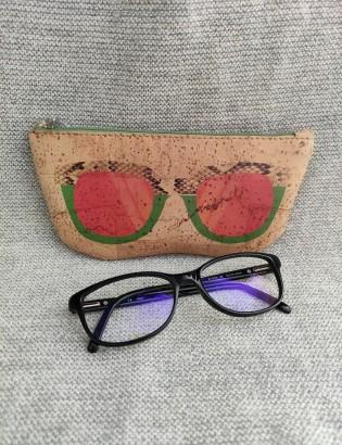 Etui à lunettes oculos vert