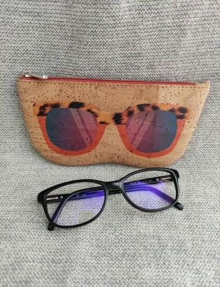 Etui à lunettes oculos orange